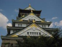 Frontowy widok Osaka kasztel fotografia stock