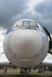 Frontowy widok samolot fotografia stock