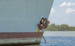 Frontowy widok statek Obraz Stock