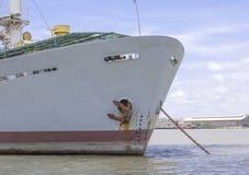 Frontowy widok statek Obrazy Stock