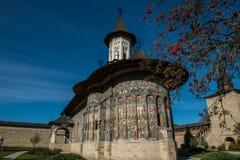 Frontowy widok Sucevita monatery kościelni Obraz Royalty Free
