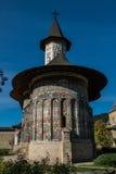 Frontowy widok Sucevita monatery kościelni Obrazy Stock