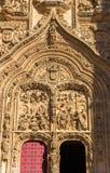 Frontowy widok wejście katedra Salamanca Zdjęcia Stock