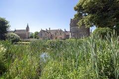 Frontowy widok Wielka Chalfield rezydencja ziemska Obraz Royalty Free