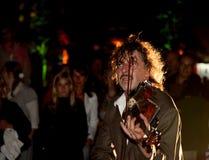 frontowy widowni violonist Zdjęcie Royalty Free