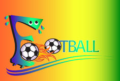 Fronts design. Creative Graphics Creation Front design and application letters. From the type of football The cartoons and caricatures Stock Images