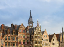Fronts of medieval houses, Ghent Royalty Free Stock Photo