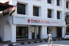 Fronts Of Public Mutual Funds kontor, Ipoh filial royaltyfri bild