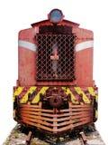 Frontseite der Ladung-Lokomotive stockfotografie