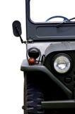 Frontseite des alten Jeeps Stockfotografie