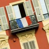 Frontseite des Hauses in Nizza lizenzfreie stockfotos