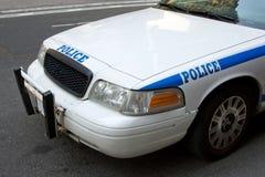 Frontseite des Polizeiwagens Stockfoto