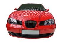 Frontseite des roten Autos stockfotos