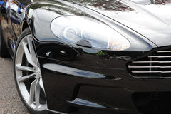Frontseite des schönen Luxuxautos Stockfoto