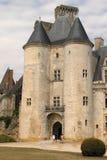 Frontseite des Schlosses im La Rochefoucault (Frankreich) Stockbilder