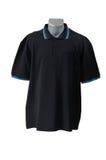 Frontseite des schwarzen T-Shirts (Polo) Lizenzfreies Stockbild