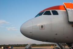 Frontseite eines Flugzeuges lizenzfreies stockbild