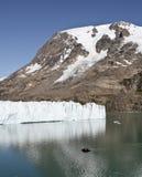 Frontseite eines Gletschers Stockbilder
