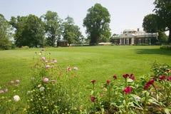 Frontseite von Thomas Jefferson Monticello Stockbilder