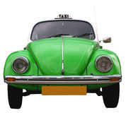 Frontside of a VW beetle taxi Stock Photos