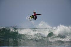 Frontsidelucht van Surfer Royalty-vrije Stock Afbeeldingen