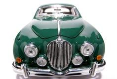 Frontview 1959 del fisheye del coche del juguete de la escala del metal de la marca 2 del jaguar #3 Imagen de archivo libre de regalías