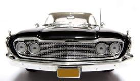Frontview 1960 del fisheye dell'automobile del giocattolo della scala del metallo del Ford Starliner Fotografie Stock Libere da Diritti