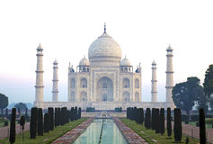 Frontview Taj Mahal Hazy Morning sans personnes photos stock