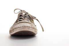 Frontview of tennis shoe Stock Photography