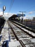 Fronty pociągu ślad w holandiach Obraz Stock