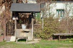 Travel to Romania: Romanian Village Fountain Stock Photos