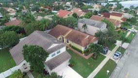 Förorts- hem i Florida Arkivbild