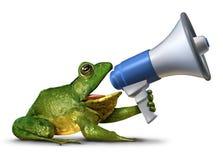 Frosch-Ansager lizenzfreie abbildung