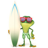 Frosch bereit zu surfen Stockbilder