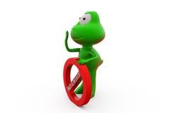 Frosch 3d kein Eintrittskonzept Stockfotos