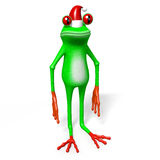 Frosch der Karikatur 3D - Weihnachtskarte Lizenzfreie Stockfotografie