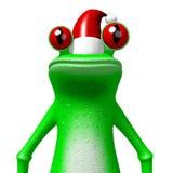 Frosch der Karikatur 3D - Weihnachtskarte Stockbilder