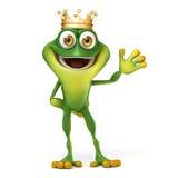 Frosch mit Krone Stockfotografie