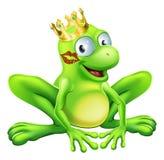 Frosch-Prinz Cartoon Lizenzfreie Stockbilder