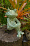 Frosch-Skulptur Lizenzfreies Stockfoto