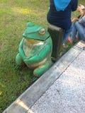 Frosch-Statue Stockbilder