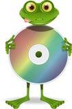 Frosch und CD Stockfotografie