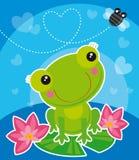 Frosch und Fliege Lizenzfreie Stockbilder