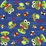 Frosch und Freunde stock abbildung