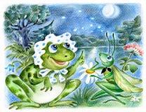 Frosch und Heuschrecke Lizenzfreie Stockbilder