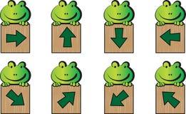 Frosch und Pfeil Lizenzfreie Stockfotos