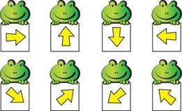 Frosch und Pfeil Lizenzfreie Stockbilder