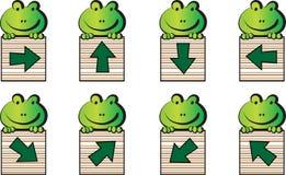 Frosch und Pfeil Lizenzfreies Stockfoto