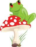 Frosch und Pilz Stockfotos