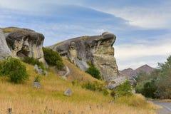 Froschfelsen entlang Weka-Durchlauf in Neuseeland Stockfoto